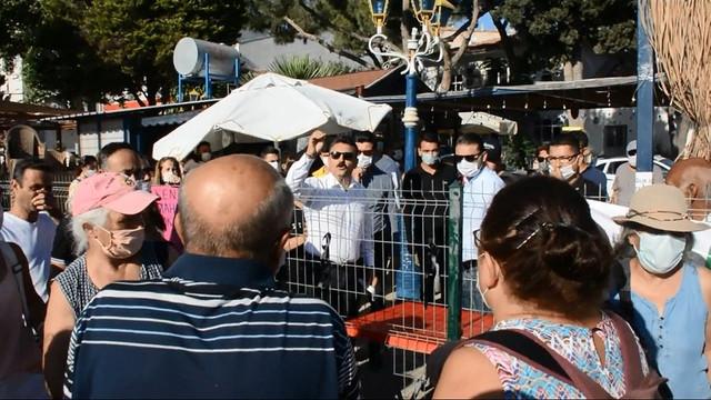 Vatandaş ile belediye başkanının asfalt tartışması