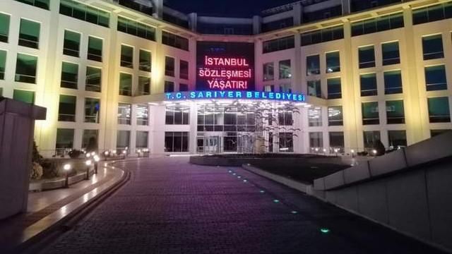 Sarıyer Belediyesi'nden İstanbul Sözleşmesi çağrısı