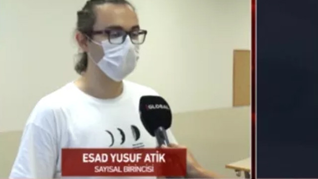 YKS Sayısal birincisi Esad Yusuf Atik duygularını paylaştı