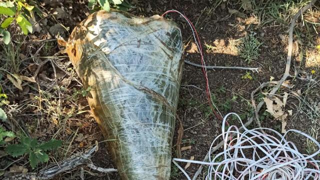 Araziye tuzaklanan el yapımı patlayıcı imha edildi