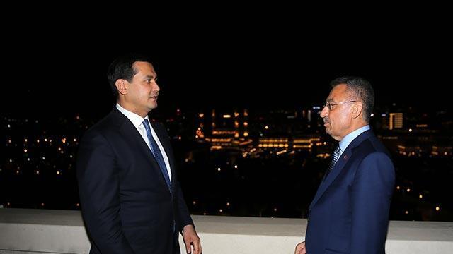 Cumhurbaşkanı Yardımcısı Oktay, Özbekistan Başbakan Yardımcısını kabul etti