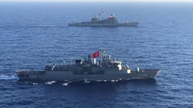 MSB duyurdu! ABD uçak gemisi ile eğitim icra edildi
