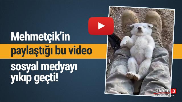Mehmetçik'in bu videosu sosyal medyayı salladı