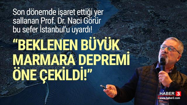 Prof. Naci Görür: ''Beklenen Marmara depremi öne çekilmiş olabilir''