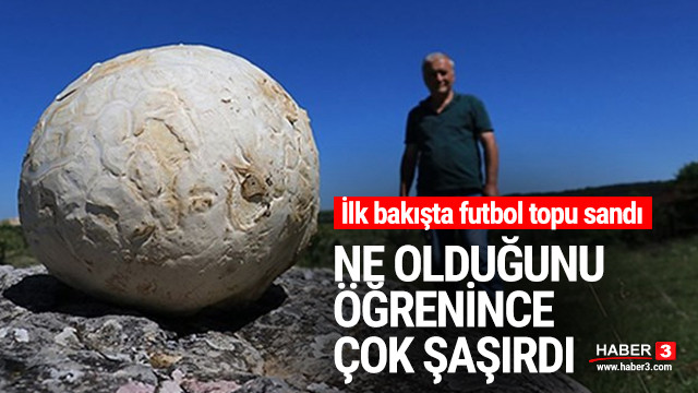 Futbol topu sandığı cisim mantar çıktı