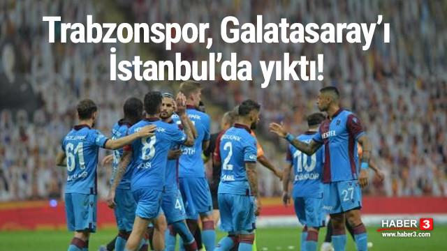 Trabzonspor, Galatasaray'ı Türk Telekom Arena'da yıktı!