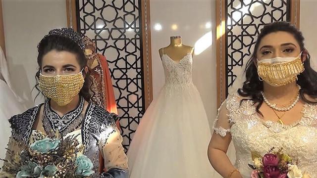 Gelinler için üretildi! Bu maskenin fiyatı 75 bin lira