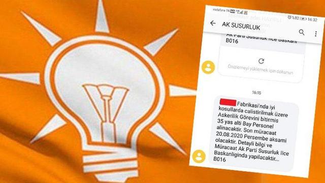 Yeni İŞKUR, AK Parti mi oldu ? Skandal SMS