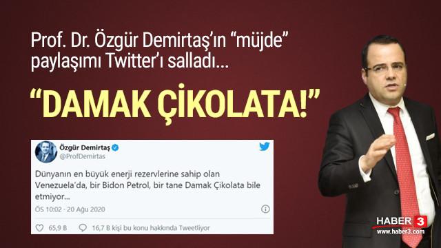 Prof. Özgür Demirtaş'ın ''Erdoğan'ın müjdesi'' paylaşımı olay oldu ...