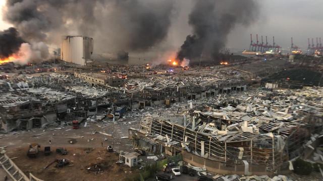 Beyrut'taki patlamada İstanbul Boğazı detayı!