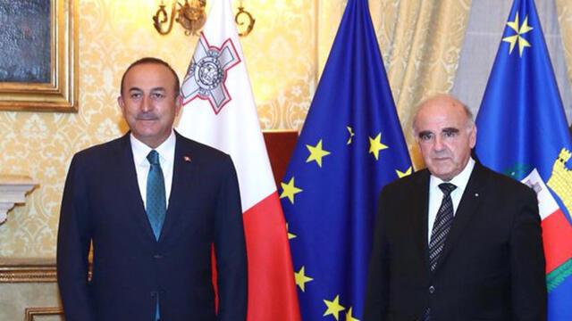 Dışişleri Bakanı Çavuşoğlu, Malta Cumhurbaşkanı ile bir araya geldi