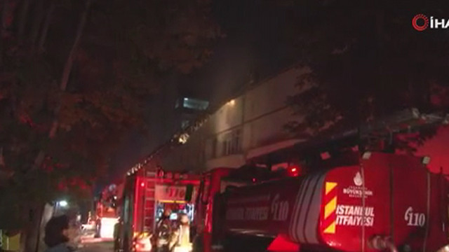 İstanbul Üsküdar'da hastane yangını!