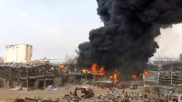Beyrut Limanı'nda büyük yangın