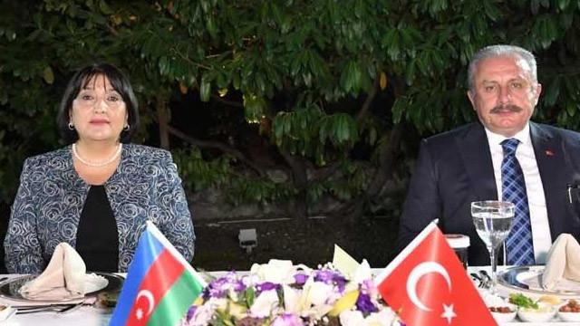 TBMM Başkanı Şentop, Azerbaycan Meclis Başkanı ile görüştü