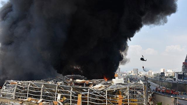 Beyrut'ta 143 patlayıcı madde yüklü konteyner daha bulundu