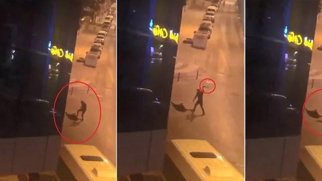 Sokak ortasında dehşet! Yaşlı adamı öldüresiye dövdü