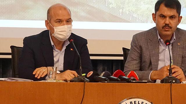 Bakan Soylu Giresun'da sel bölgesinde açıklamalarda bulundu