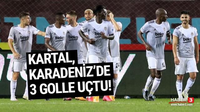 Beşiktaş, Trabzonspor'u 3 golle yendi