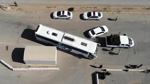 43 ilin geçiş noktasında otobüsler tek tek durduruldu