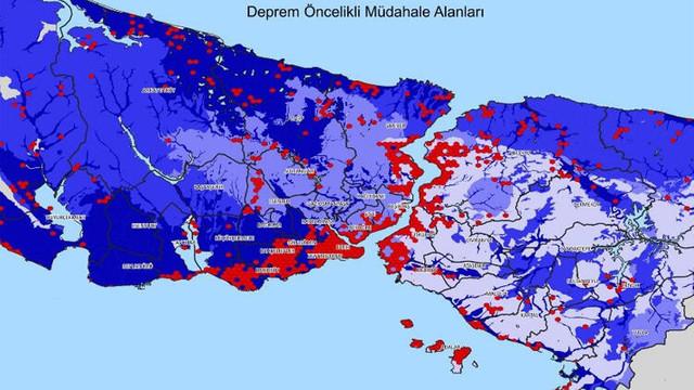 İstanbul'un deprem haritası yayınlandı! İşte en riskli ilçeler