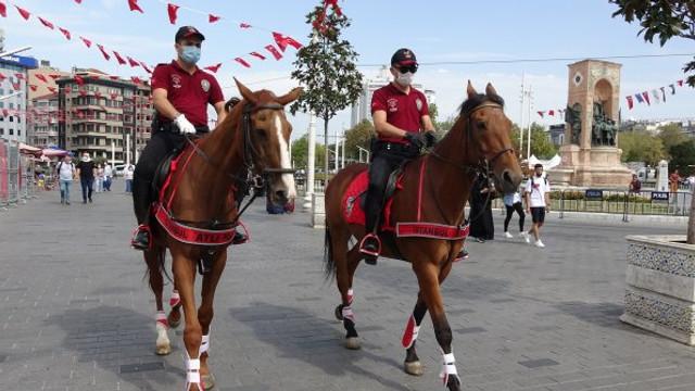 Taksim artık atlı polislere emanet