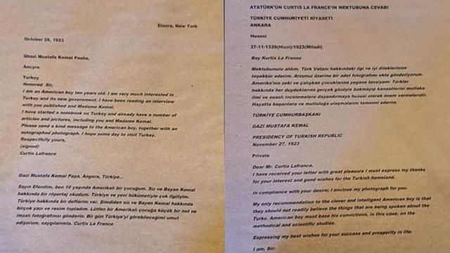 Atatürk'ün kayıp mektubu bulundu
