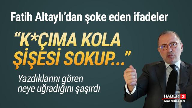 Fatih Altaylı: ''K.çıma şişe sokup hastaneye kaldırıldığımı yazdılar''