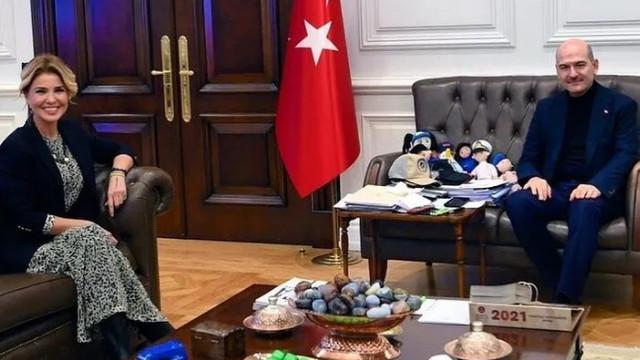 Gülben Ergen'den Bakan Soylu'ya ''destek'' ziyareti