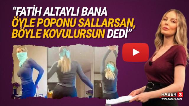 Fatih Altaylı'dan Hande Sarıoğlu'na: ''Öyle poponu sallarsan...''