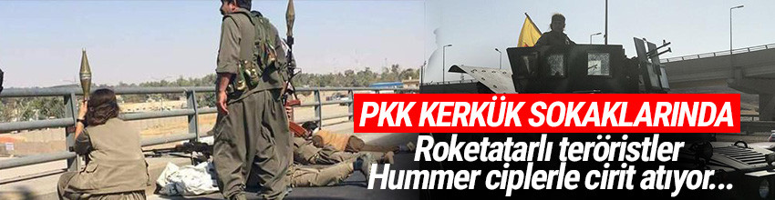 PKK'lı teröristler Kerkük sokaklarında ! Türkiye harekete geçti
