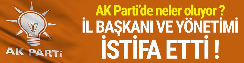 AK Parti Konya İl Başkanı ve yönetimi istifa etti !