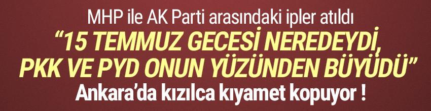 MHP ile AK Parti arasındaki Davutoğlu krizi büyüyor
