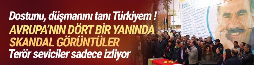 Avrupa'nın dört bir yanında PKK'ya göz yumuluyor
