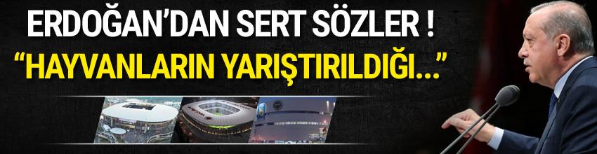 Cumhurbaşkanı Erdoğan'dan kulüplere 'Arena' uyarısı