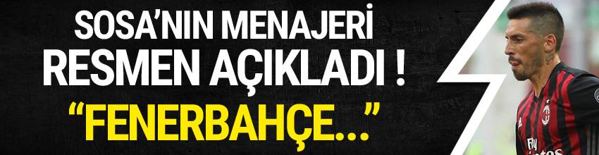 Sosa'nın menajerinden Fenerbahçe açıklaması