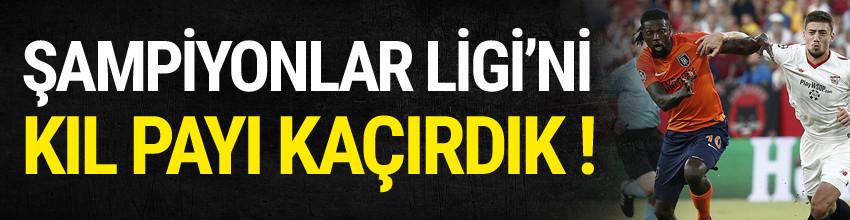 Başakşehir Şampiyonlar Ligi için direkten döndü !