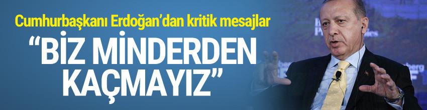 Erdoğan'dan AB açıklaması: ''Biz minderden kaçmayız''