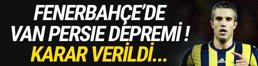Fenerbahçe Van Persie ile yollarını ayırıyor