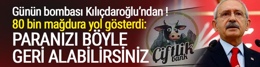 Kılıçdaroğlu Çiftlik Bank mağdurlarına yol gösterdi