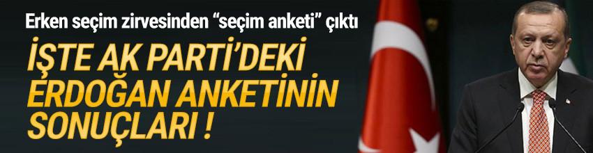 AK Parti'de erken seçim zirvesi sonrası son anket sonuçları açıklandı