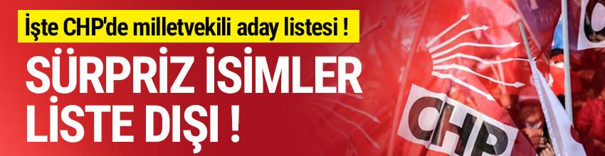 İşte CHP'de milletvekili aday listesi ! Sürpriz isimler liste dışı...