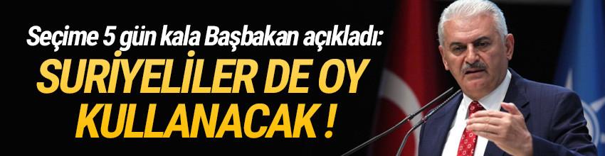Başbakan açıkladı ! Türk vatandaşı olan Suriyeliler de oy kullanacak