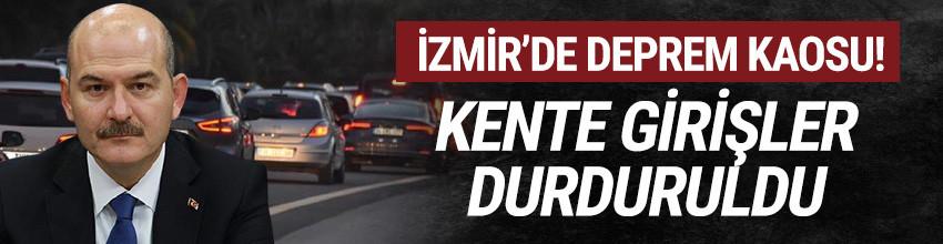 İzmir'de deprem kaosu! Kente girişler durduruldu