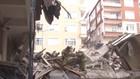 İstanbul'da çöken binadan ilk görüntüler