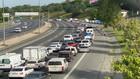 FSM'deki trafik yoğunluğu dikkat çekti!