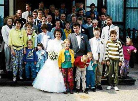 Düğünlerden ilginç kareler