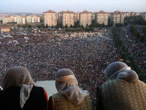 PKKlılara büyük karşılama !