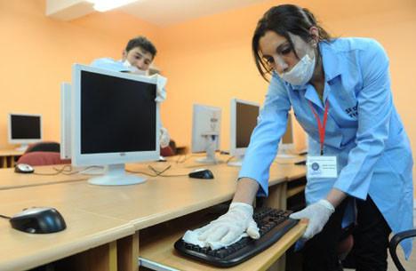 Okullarda domuz gribi temizliği