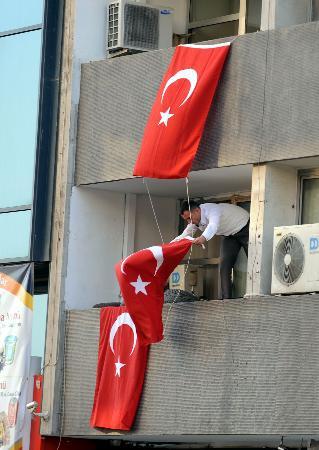 DTPlilere bayraklı tepki