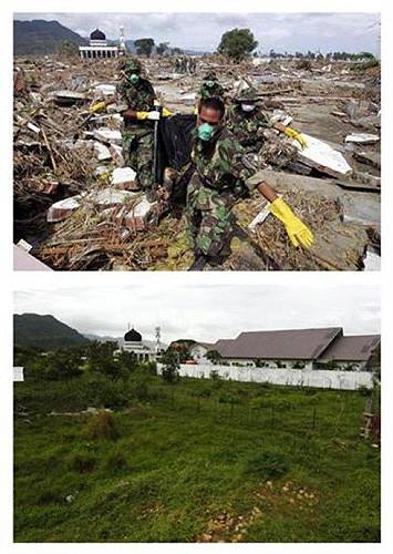 Tsunamiden önce ve sonra